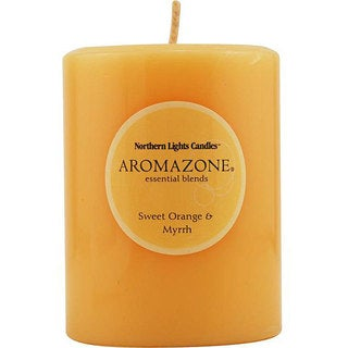 Sweet Orange and Myrrh Essential Blend 3x4-inch Pillar Candle