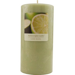 Essential Blend 3x6-inch Lime Basil Pillar Candle