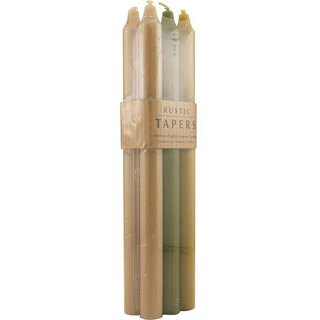 Tapers Meadow Rustic Taper Candles (Pack of 6)