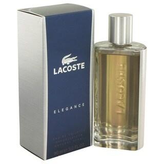 Lacoste Elegance Men's 3-ounce Eau de Toilette Spray