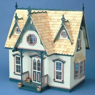 Orchid Victorian Dollhouse Kit with Divider Walls and Shingles