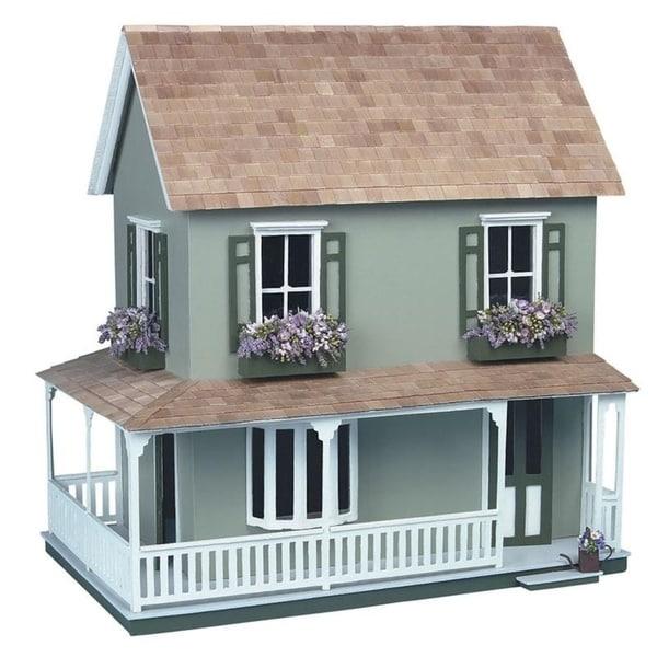 The Laurel Green Wood Dollhouse Kit