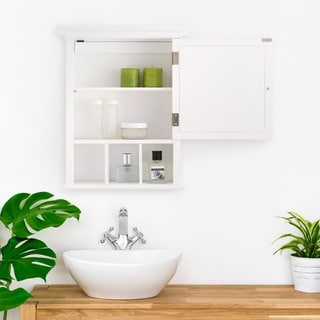 White Medicine Cabinet by Elegant Home Fashions