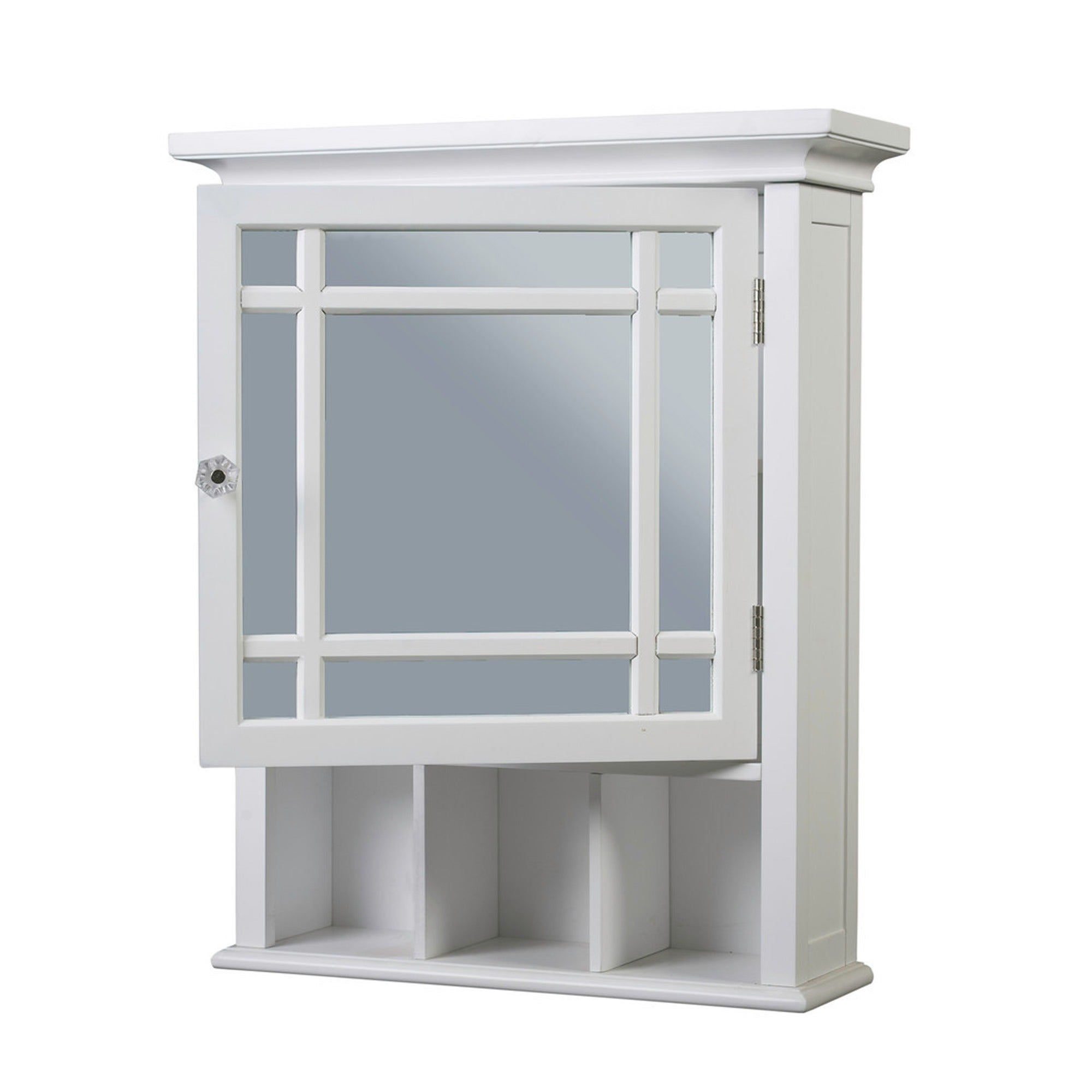 Medicine Cabinet Organizers And Storage With Glass Door White Wood ...