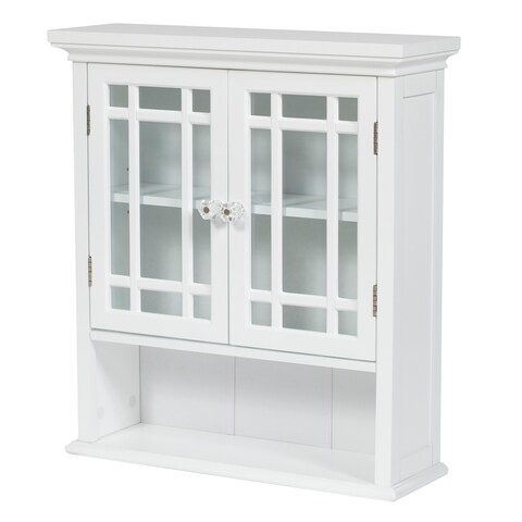 Essential Home Furnishings White Wood Stripe Wall Cabinet