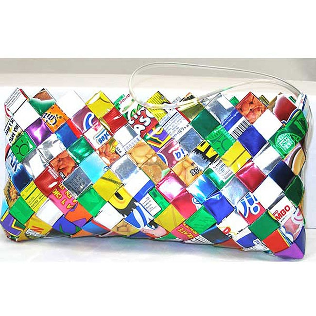 Woven Wrapper Clutch with Wrist Strap (Mexico)