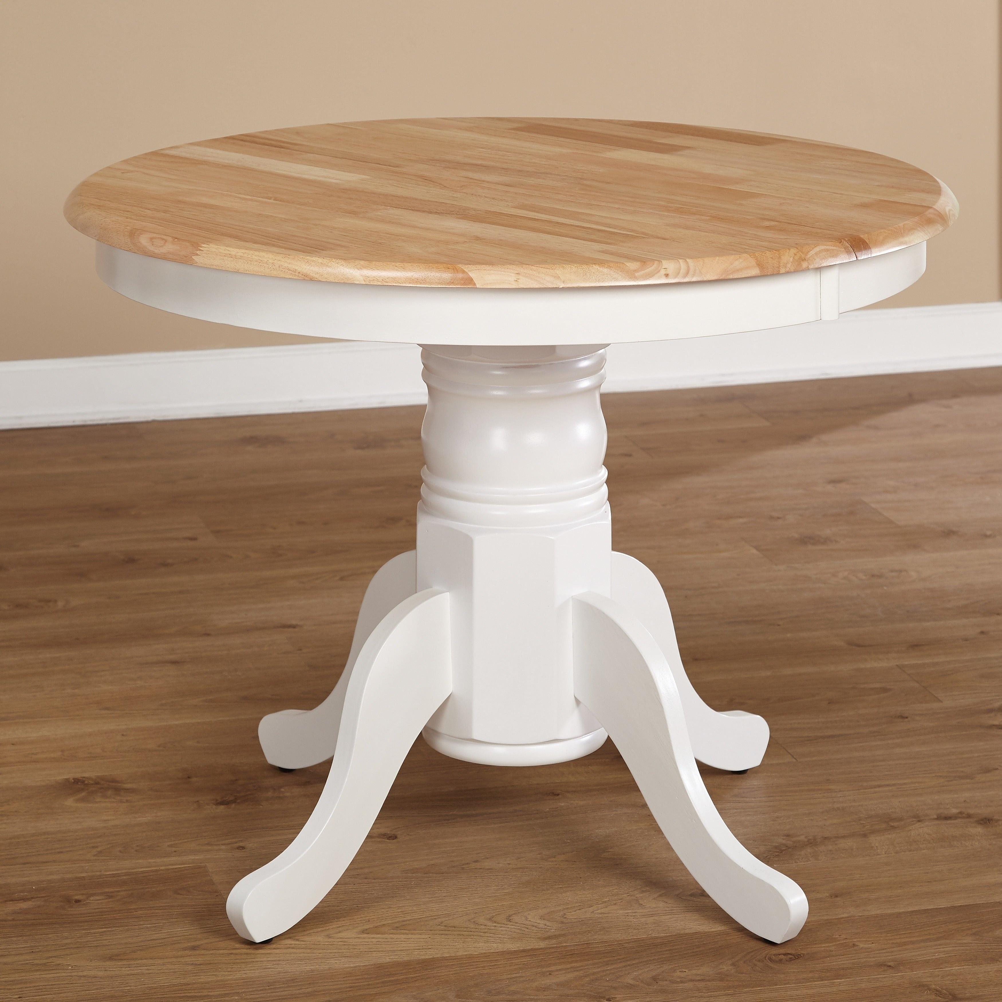 Simple Living Rubberwood Farmhouse Table   White/Natural