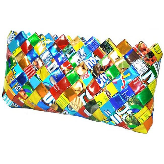 Woven Foil Wrapper Clutch (Mexico)