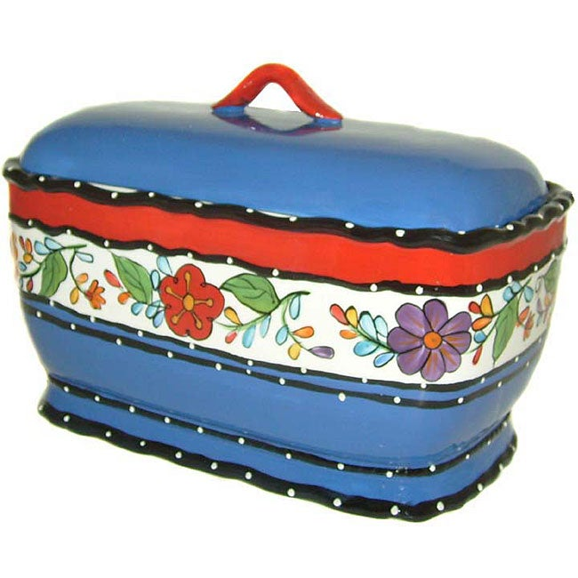 Viva Collection Hand-painted  Bread Jar