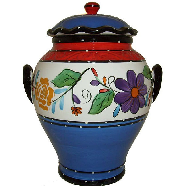 Viva Collection Hand-painted Cookie Jar - Thumbnail 0