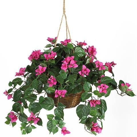 Bougainvillea Silk Plant Hanging Basket