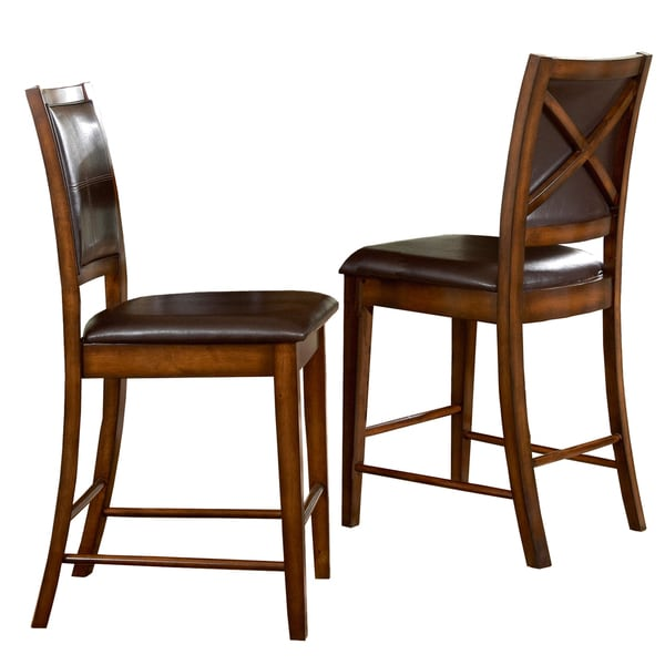 Frisco Bay Burnished Oak 24 Inch Counter Chairs (Set Of 2) By INSPIRE Q  Classic   Free Shipping Today   Overstock.com   11608562