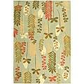 Safavieh Handmade Ferns Contemporary Light Blue Wool Rug (5'3 x 8'3) - 5'3 x 8'3