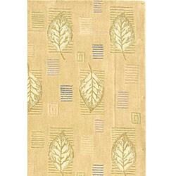 Safavieh Handmade Foliage Beige Wool Rug (5'3 x 8'3) - Thumbnail 2