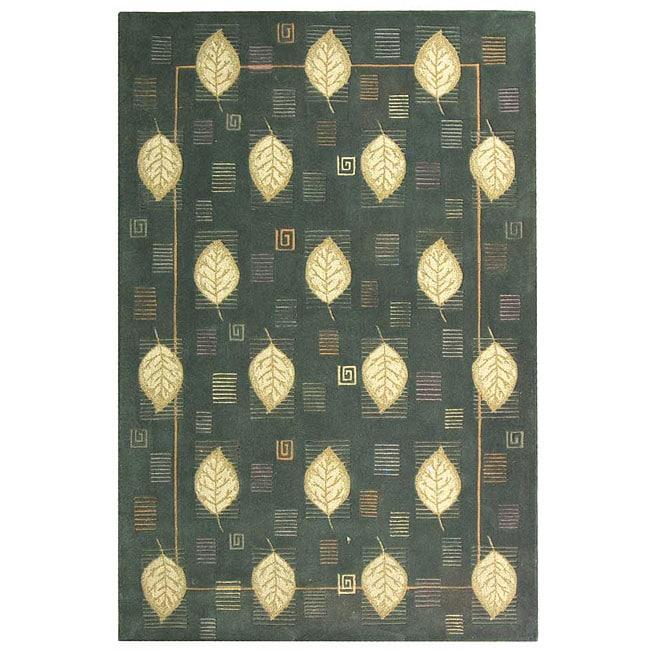 Safavieh Handmade Foliage Blue Wool Rug - 7'9 x 9'9