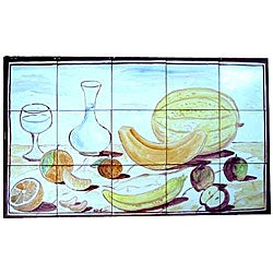Mosaic 'Kitchen Backsplash' 15-tile Ceramic Wall Mural