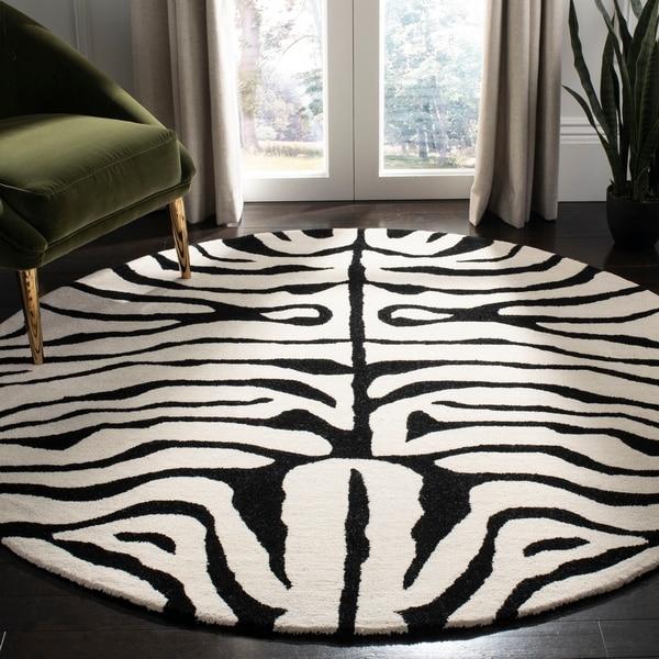 Shop Safavieh Handmade Soho Zebra Ivory/ Black New Zealand