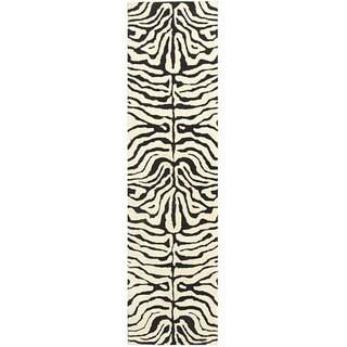 Safavieh Handmade Soho Melie Zebra N.Z. Wool Rug