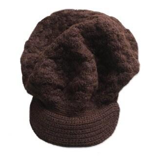 Handmade Wool 'Chocolate Cap' Alpaca Hat (Peru)