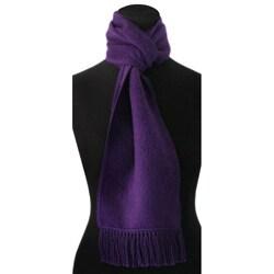 Handmade Snug Violet' Alpaca Wool Scarf (Peru)