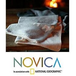 'Alpaca Shadows' Alpaca Wool Throw Blanket (Peru) - Thumbnail 1