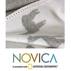 'Alpaca Shadows' Alpaca Wool Throw Blanket (Peru) - Thumbnail 2