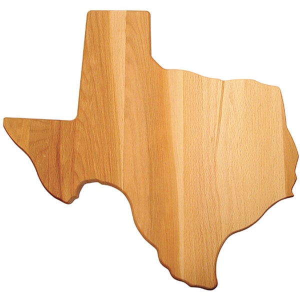 Texas-shaped Flat Grain Cutting Board