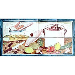 Kitchen Backsplash 8-tile Ceramic Mosaic Mural