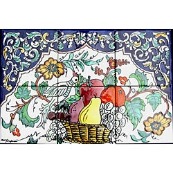 Fruit Basket 6-tile Ceramic Backsplash Mosaic