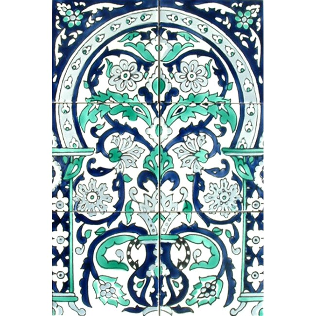 Shop Victorian Style Floral Arch 6 Tile Ceramic Mosaic