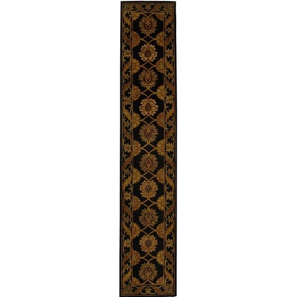 Safavieh Handmade Heritage Timeless Traditional Black Wool Runner (2'3 x 14')