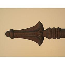 Alpine 130 to 154-inch Carbon Black Adjustable Curtain Rod