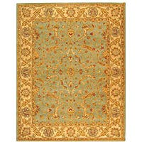 Safavieh Handmade Antiquities Treasure Teal/ Beige Wool Rug (9'6 x 13'6)