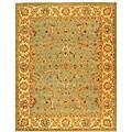 Safavieh Handmade Antiquities Treasure Teal/ Beige Wool Rug (9'6 x 13'6)