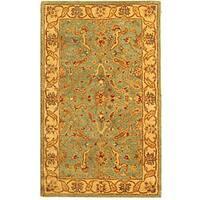 Safavieh Handmade Antiquities Treasure Teal/ Beige Wool Rug (3' x 5')