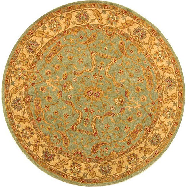 Safavieh Handmade Antiquities Treasure Teal/ Beige Wool