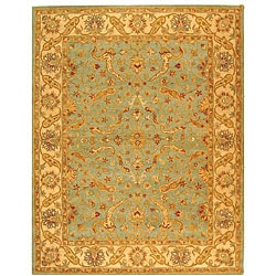 Safavieh Handmade Antiquities Treasure Teal/ Beige Wool Rug (7'6 x 9'6)