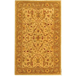 Safavieh Handmade Antiquities Treasure Ivory/ Brown Wool Rug (3' x 5')