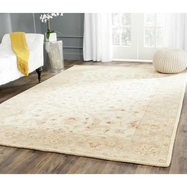Safavieh Handmade Antiquities Treasure Ivory/ Brown Wool Rug (6' x 9')