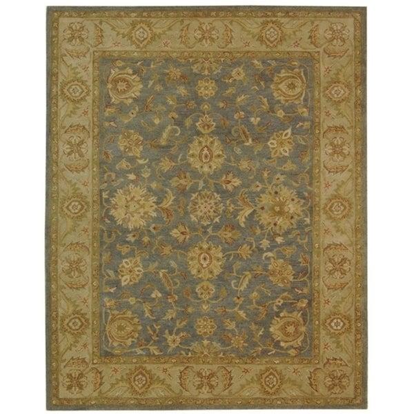 """Safavieh Handmade Antiquities Jewel Red/ Ivory Wool Rug - 9'6"""" x 13'6"""""""