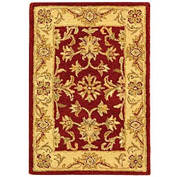 Safavieh Handmade Antiquities Jewel Red/ Ivory Wool Rug (2' x 3')