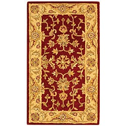 Safavieh Handmade Antiquities Jewel Red/ Ivory Wool Runner (2'3 x 4')