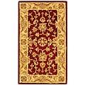 """Safavieh Handmade Antiquities Jewel Red/ Ivory Wool Runner - 2'3"""" x 4'"""
