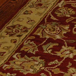 Safavieh Handmade Antiquities Jewel Red/ Ivory Wool Rug (3' x 5') - Thumbnail 1