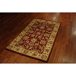Safavieh Handmade Antiquities Jewel Red/ Ivory Wool Rug (3' x 5') - Thumbnail 2