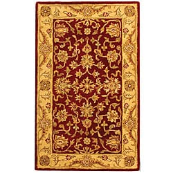 Safavieh Handmade Antiquities Jewel Red/ Ivory Wool Rug (3' x 5')