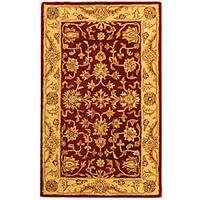 Safavieh Handmade Antiquities Jewel Red/ Ivory Wool Rug - 3' x 5'