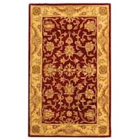 Safavieh Handmade Antiquities Jewel Red/ Ivory Wool Rug - 3' x 5'