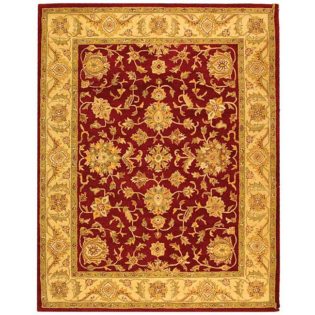 Safavieh Handmade Antiquities Jewel Red/ Ivory Wool Rug (6' x 9')