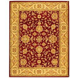 Safavieh Handmade Antiquities Jewel Red/ Ivory Wool Rug - 7'6 x 9'6 - Thumbnail 0